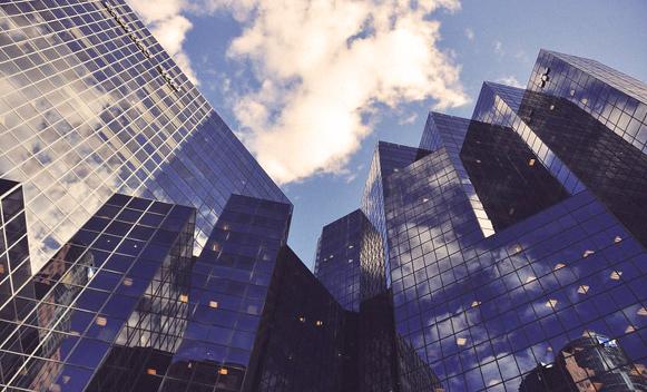 edificios de cristal